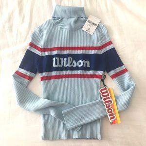 Forever 21 x Wilson Light Blue Turtleneck Sweater